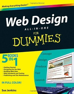 Web Design All-in-one For Dummies (For Dummies (Computers)) By Sue Jenkins