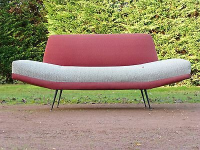 GUARICHE EXCEPTIONAL SOFA MERIDIAN WORK FRENCH 1950 VINTAGE 50's SOFA