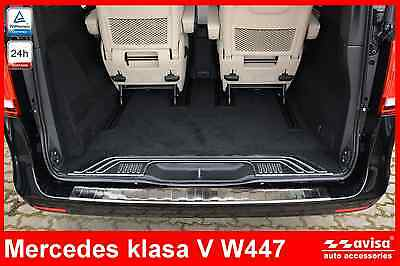 Mercedes W447 V Class Rear Bumper Protector Guard Trim Cover Chrome Stainless