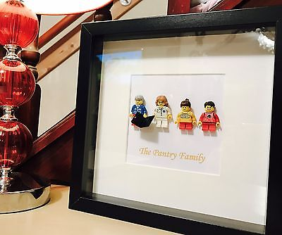 Lego Mini Figure Family Picture Gift Frame - personalised!