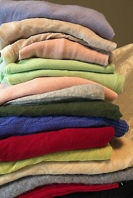 15PC Lot Clothing-Womens SWEATERS*Assorted Size/Brand/Styles*Very Nice Condition