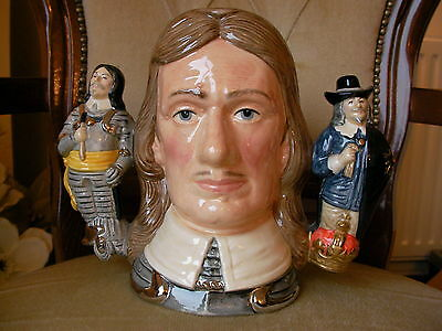Royal Doulton Large Character Toby Jug - Oliver Cromwell - Double Handled MINT !