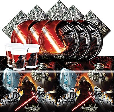 Star Wars The Force Awakens Childrens Birthday Party Tableware Decorations VII