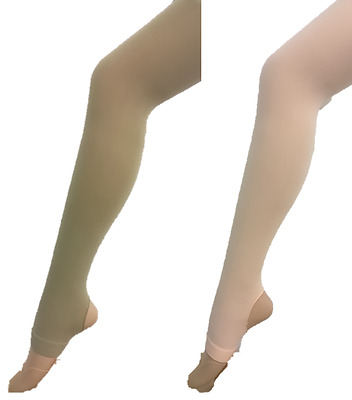 Pink/Tan Ladies Stirrup Tights (Ballet, Dance, Jazz, Gymnastics, Ice Skating)