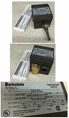 Barksdale L2H H351S-RD Temperature Switch
