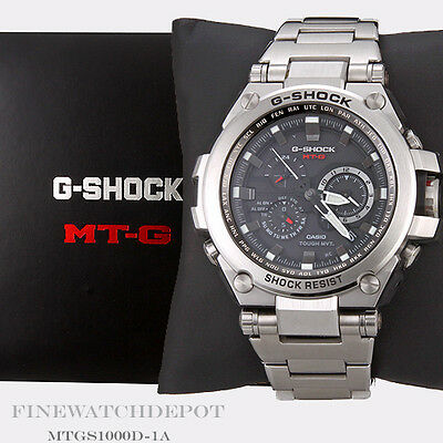 Authentic Casio G-Shock Silver Stainless Steel Men's Watch MTGS1000D-1A