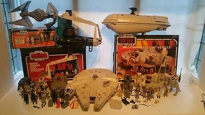 Huge Vintage Star Wars Collection Millennium Falcon And 30+ Figures
