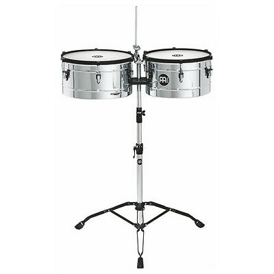 """Meinl Percussion Chrome 14"""" & 15"""" Marathon Series Timbales - MT1415CH"""