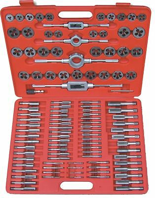 110 Piece Metric Tap Wrench & Split Die Set Fine Coarse & Case Tool Hub 9162
