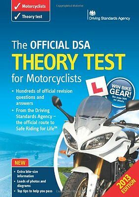 The Official DSA Theory Test for Motorcyclists Book 2013 edition By Driving Sta