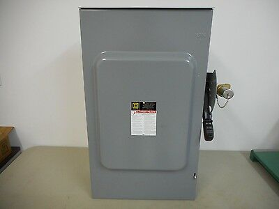 Square D H324Nrb K1 200A 240V 3 Phase Fusible Outdoor Disconnect Safety Switch