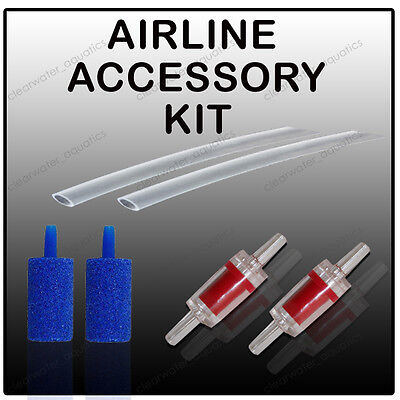 Airline Air Stone and Check Non Return Valve Aquarium CV4 Air Pump Accessory Kit