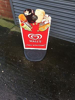 Wall's Cornetto Magnum Lolly Ice Cream Sign Board - Retail - Shop - Advertising