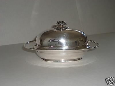 Tiffany & Co Sterling Silver Covered Lidded Butter Dish 925-1000