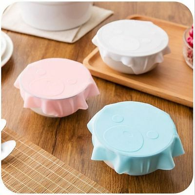 Bowl Microwave Food Refrigerator Plastic Wrap Reusable Silicone Sealing Cover