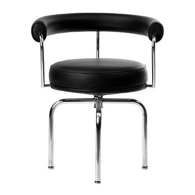 Corbusier LC7 Swivel Chairs 100% Italian Leather by Aeon Furniture CH5077