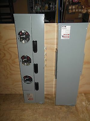 Eaton 3MM320RC 800A Residential Meter Stack 3 Socket AND 3MTB600RC 600A Main Box