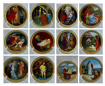 Collectible Danbury Mint 10 Ten Commandments Complete Plate Set Mary Mayo w/ Box