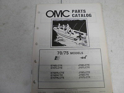1983 johnson evinrude outboard motor parts catalog 70 75 hp