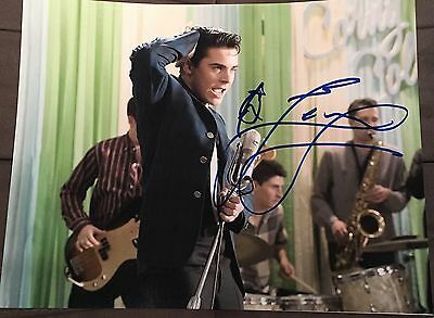 ZAC EFRON SIGNED FULL AUTOGRAPH CLASSIC HAIRSPRAY HOT STUD 11x14 PHOTO COA