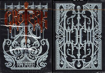 Grotesk Macabre Black Deck Playing Cards Poker Size EPCC Custom Limited Sealed