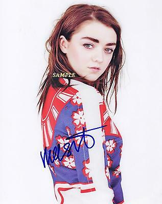 Maisie Williams #2 Reprint Autographed Signed Picture Photo Game Of Thrones Rp