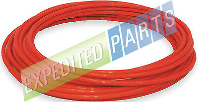 "1/4"" Pneumatic Polyethylene Tubing for Push to Connect Fittings RED 50ft"