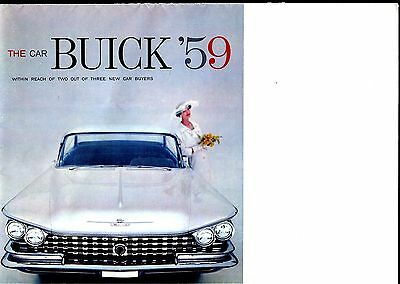 Vintage 1959 Buick Sales Brochure / Poster Excellent Condition! W/specifications