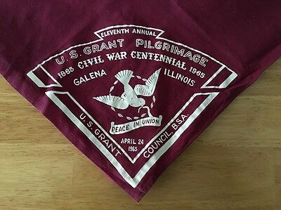 BSA Neckerchief U.S. Grant Pilgrimage Civil War Centennial 1865-1965 Boy Scouts