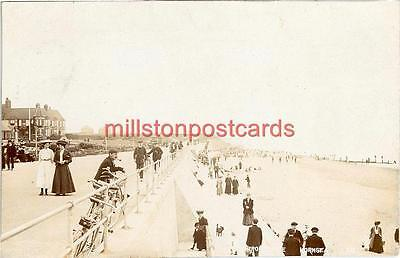 Real Photographic Postcard Of The Promenade, Hornsea, East Yorkshire