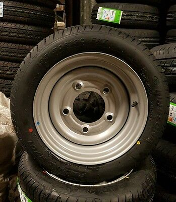 """1x 195 50 13C new trailer tyre and  Wheel 5 Stud 6.5"""" PCD"""