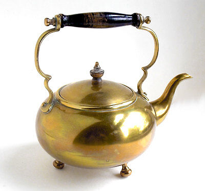 Antique Brass Kettle circa 1860s, William Soutter and Sons Toddy Kettle