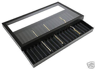 1-18 Slotted Acrylic Lid Jewelry Display Bracelet Case