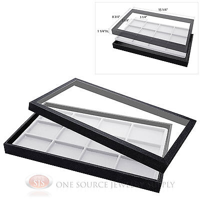 (1) Acrylic Top Display Case & (1) 12 Compartmented White  Insert Organizer
