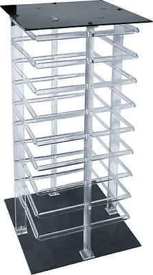 Earring Display Stand Revolving Clear Acrylic Rotating Holds 144 Earring Cards