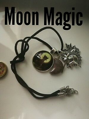 Code 498 Moon Magic Agate Infused Necklace Fairyologist Doreen Virtue Wand Cat