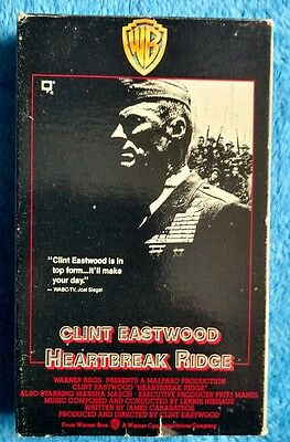 HEARTBREAK RIDGE Betamax Tape Clint Eastwood 1986 Military Marine
