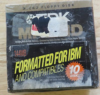 10 TDK MF2HD Micro Floppy Disk Super Electron Beam  New Sealed