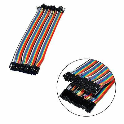 New 40pcs 20cm Dupont Jumper Wire Cable 2.54mm 20cm For Arduino Breadboard OU