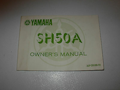 Yamaha SH50A Motorcycle Owner's Manual , issued 1989