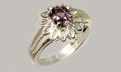 "Lavender Spinel Ring ¾ct+ Antique 19thC Ancient Mariner ""Way Stone"" Compass Gem"