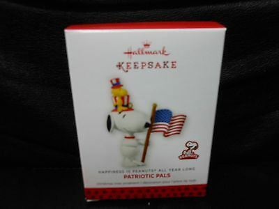 "Hallmark Keepsake ""Patriotic Pals - Peanuts"" 2013 Ornament NEW 12th in Series"