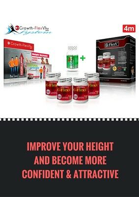 Posture Correction Growth Height Dietary Supplements Growth-FlexV Pro - 4 Months