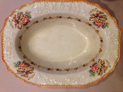 Vintage Myott Staffordshire England Serving Dish FH2909 Leaves Grapes