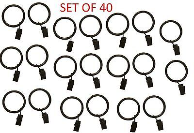 2-inch Set of 40 Metal Curtain Rings with Clips and Eyelets ...