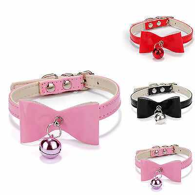H Pet Cat Kitten Puppy Soft Collar Adjustable Safety Buckle Neck Strap With Bell