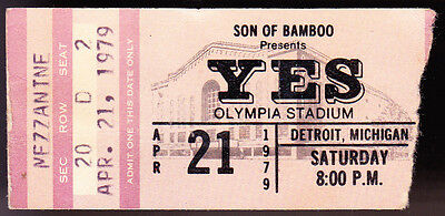 Yes Son Of Bamboo Apr 21 1979 Ticket Stub At Olympia Stadium Detroit Michigan