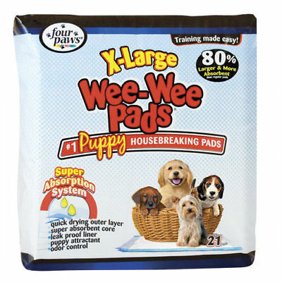 """Four Paws Wee-Wee Puppy Housebreaking Pads - 28"""" x 34"""" - 21 pk"""