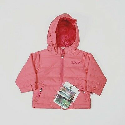 ROJO Girls Puffa Warm Jacket   (Flamingo) ages 1, 2, 3 and 4 years available