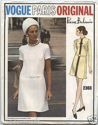 Vintage 60's VOGUE PARIS ORIGINAL 2360 PIERRE BALMAIN DRESS - Sewing Pattern B40